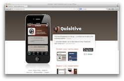 Quisitive trademark search for iPhone